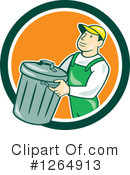 Garbage Man Clipart #1264913 by patrimonio