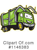 Garbage Truck Clipart #1146383 by patrimonio