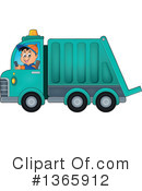Garbage Truck Clipart #1365912 by visekart