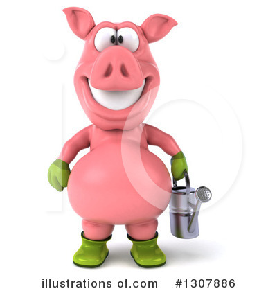 Pig Clipart #1307886 by Julos