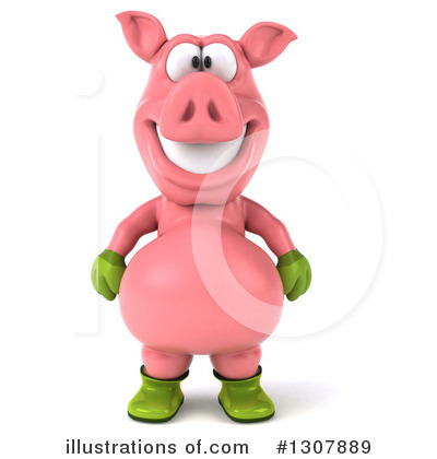 Pig Clipart #1307889 by Julos