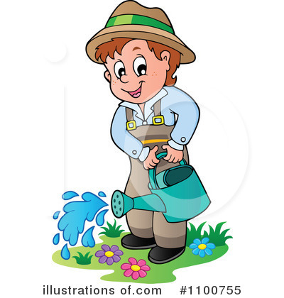 Royalty-Free (RF) Gardening Clipart Illustration by visekart - Stock Sample #1100755