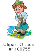Royalty-Free (RF) Gardening Clipart Illustration #1100755