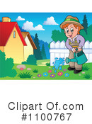 Royalty-Free (RF) Gardening Clipart Illustration #1100767