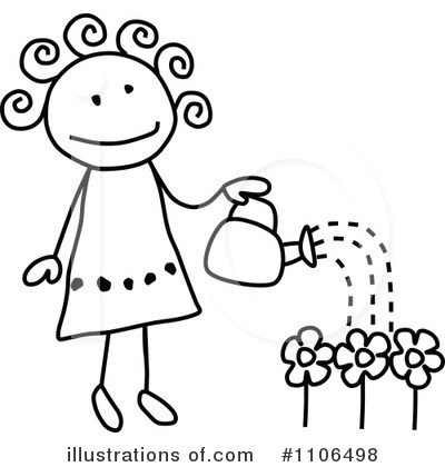 Royalty-Free (RF) Gardening Clipart Illustration by C Charley-Franzwa - Stock Sample #1106498