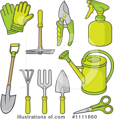 Royalty-Free (RF) Gardening Clipart Illustration by Any Vector - Stock Sample #1111660