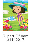 Royalty-Free (RF) Gardening Clipart Illustration #1140017