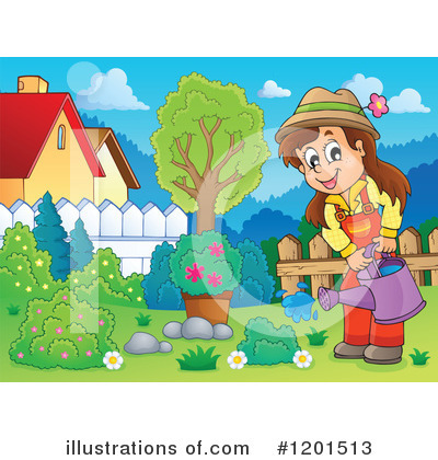 Royalty-Free (RF) Gardening Clipart Illustration by visekart - Stock Sample #1201513