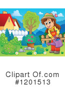 Royalty-Free (RF) Gardening Clipart Illustration #1201513