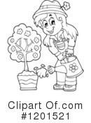 Royalty-Free (RF) Gardening Clipart Illustration #1201521