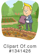 Royalty-Free (RF) Gardening Clipart Illustration #1341426