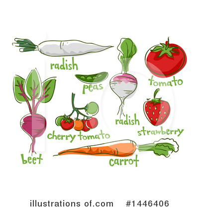 Radish Clipart #1446406 by BNP Design Studio