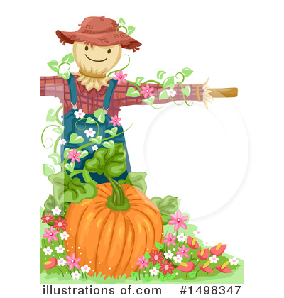 Scarecrow Clipart #1498347 by BNP Design Studio
