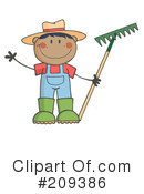 Royalty-Free (RF) gardening Clipart Illustration #209386