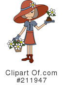 Royalty-Free (RF) Gardening Clipart Illustration #211947