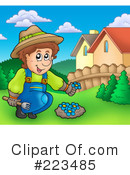 Royalty-Free (RF) Gardening Clipart Illustration #223485