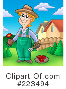 Royalty-Free (RF) Gardening Clipart Illustration #223494