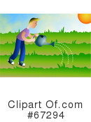Royalty-Free (RF) Gardening Clipart Illustration #67294
