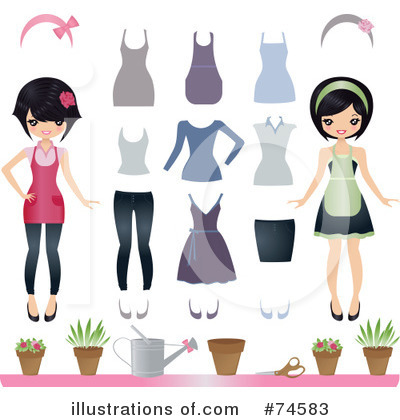 Asian Woman Clipart #74583 by Melisende Vector