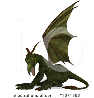 Royalty-Free (RF) Gargoyle Clipart Illustration by Ralf61 - Stock Sample #1071368