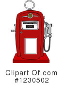 Gas Pump Clipart #1230502 by djart