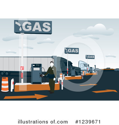 Trucking Industry Clipart #1239671 by David Rey
