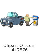 Royalty-Free (RF) Gas Station Clipart Illustration #17576