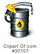 Royalty-Free (RF) Gasoline Clipart Illustration #30707