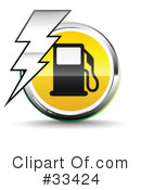 Royalty-Free (RF) gasoline Clipart Illustration #33424