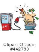 Royalty-Free (RF) gasoline Clipart Illustration #442780