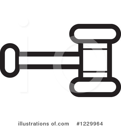 Gavel Clipart #1229964 by Lal Perera