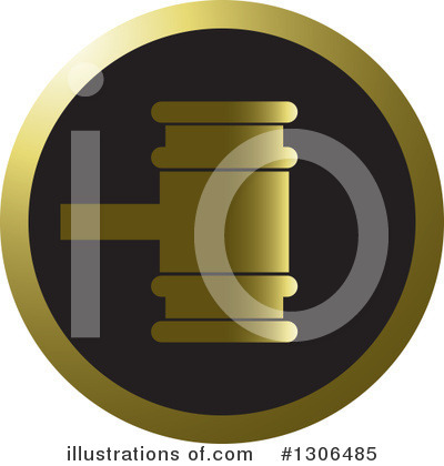 Gavel Clipart #1306485 by Lal Perera