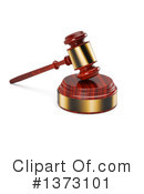 Royalty-Free (RF) Gavel Clipart Illustration #1373101
