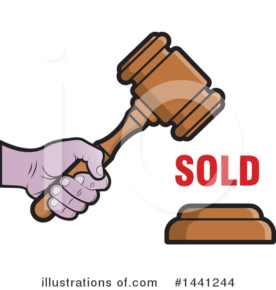 Royalty-Free (RF) Gavel Clipart Illustration by Lal Perera - Stock Sample #1441244