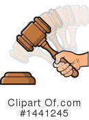 Royalty-Free (RF) Gavel Clipart Illustration #1441245