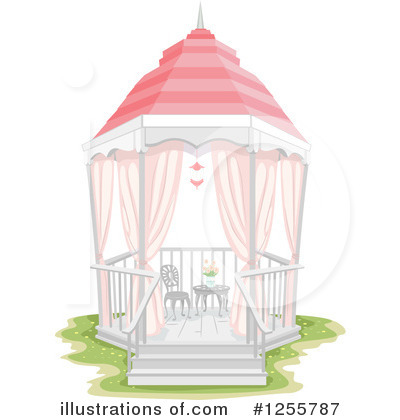 Royalty-Free (RF) Gazebo Clipart Illustration by BNP Design Studio - Stock Sample #1255787