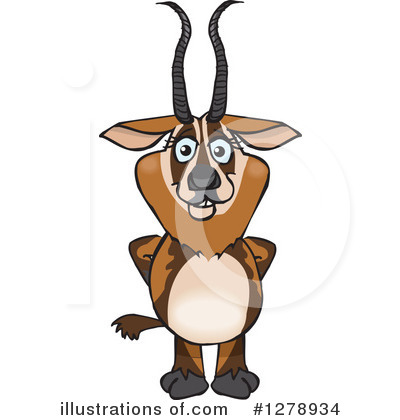 Deer Clipart #1278934 by Dennis Holmes Designs