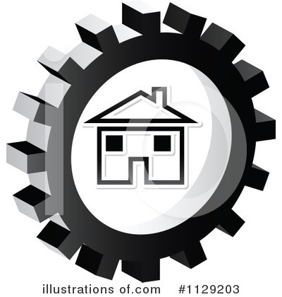 Royalty-Free (RF) Gear Clipart Illustration by Andrei Marincas - Stock Sample #1129203