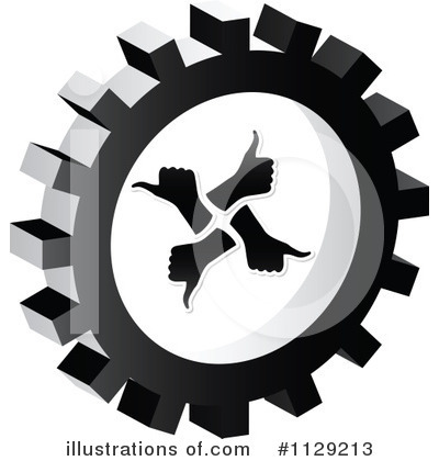 Royalty-Free (RF) Gear Clipart Illustration by Andrei Marincas - Stock Sample #1129213