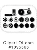 Royalty-Free (RF) gears Clipart Illustration #1095686