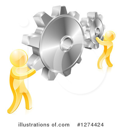 Teamwork Clipart #1274424 by AtStockIllustration