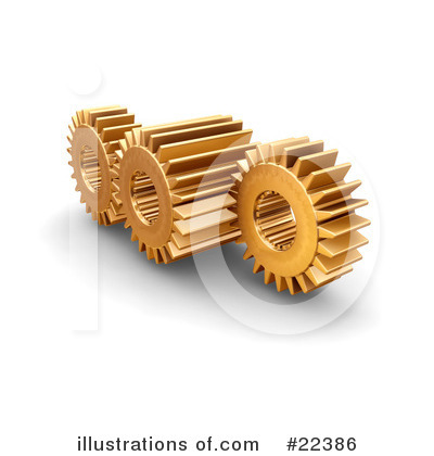 Gears Clipart #22386 by KJ Pargeter