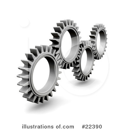 Gears Clipart #22390 by KJ Pargeter