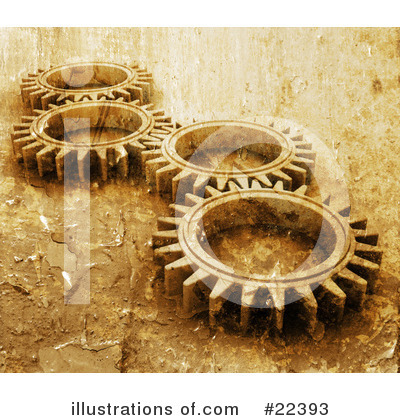 Royalty-Free (RF) Gears Clipart Illustration by KJ Pargeter - Stock Sample #22393