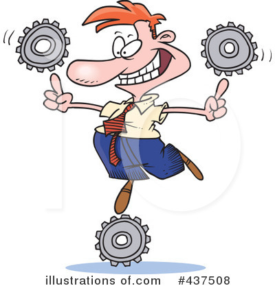 Royalty-Free (RF) Gears Clipart Illustration by Ron Leishman - Stock Sample #437508