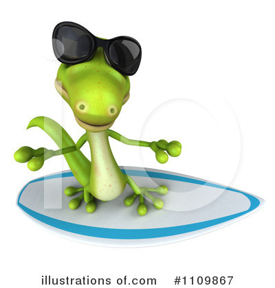 Royalty-Free (RF) Gecko Clipart Illustration by Julos - Stock Sample #1109867