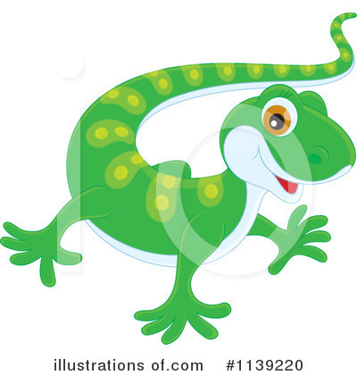 Gecko Clipart #1139220 by Alex Bannykh