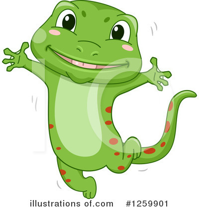 Gecko Clipart #1259901 by BNP Design Studio