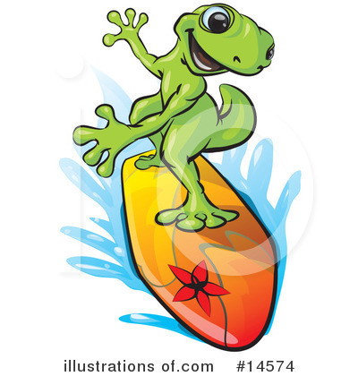 Royalty-Free (RF) Gecko Clipart Illustration by Leo Blanchette - Stock Sample #14574