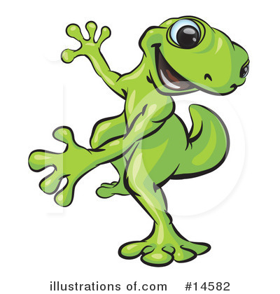 Gecko Clipart #14582 by Leo Blanchette